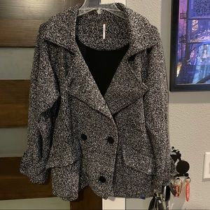 Free People Marled Double Breasted coat